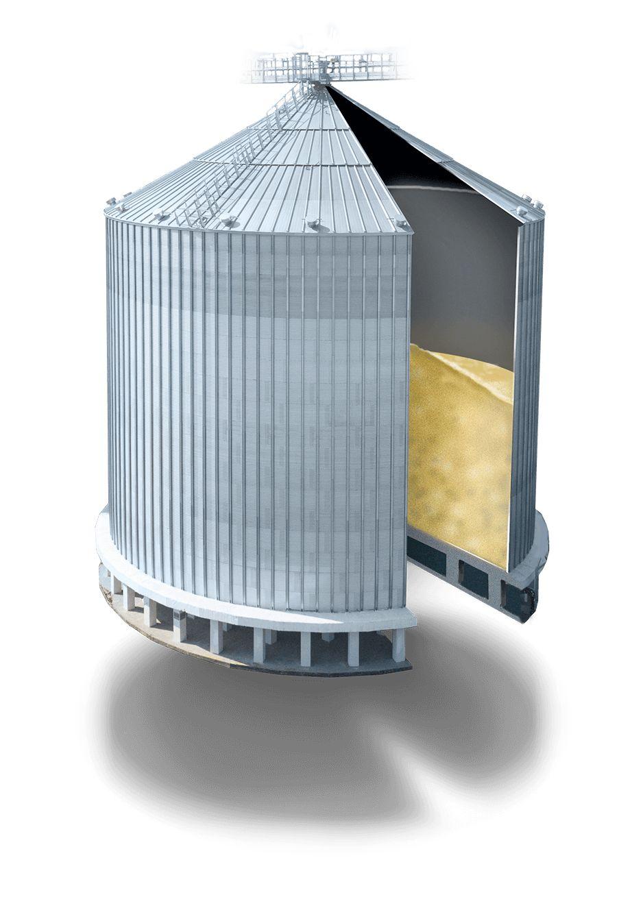 Силос плоскодонный завода ROMAX 5
